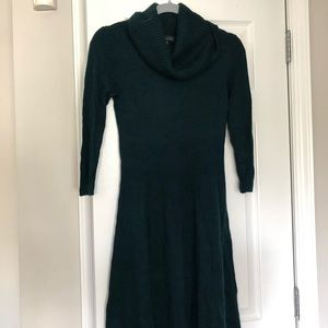 EUC LIMITED teal cowl neck sweater dress
